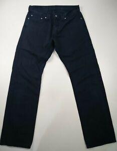 Homme-Levi-039-s-coupe-droite-W32-L32-Casual-Denim-Jeans-Dark-Wash-noir-Levi-Strauss