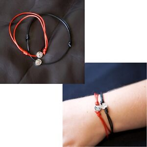 acec65644ae78 Details about Zuzu Lucky Black Red String Rope Silver Tree Of Life Charm  Bracelet Jewellery UK