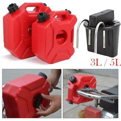 Red 3L//5L Jerry Can Gas Fuel Petrol Tank //Mount Clamp for ATV Bike Motorcycle