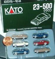 Six Kato N Scale Toyota Automobiles 23-500