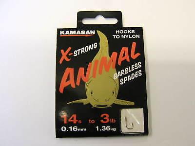 Kamasan Animal Barbelé X Extra Fort Crochets Vers Nylon Carpe Barbeau TANCHE de pêche