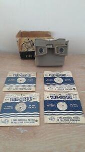 Sawyer-039-s-Viewmaster-anni-1960-Beige-amp-4-RULLI