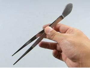 2 in 1 Gardening Tool Spatula Japanese Stainless Bonsai Straight Tweezers w
