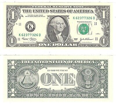 2003 A $1 Atlanta District 3 Digit Repeater Fancy Number FR #1930-F