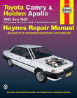 Toyota Camry and Holden Apollo Australian Automotive Repair Manual: 1983 to 1992 by Mike Forsythe, J. H. Haynes (Paperback, 2000)