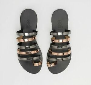 f1a8484664741 Details about Greek Leather Sandals Women Handmade Slide Strappy Gladiator  Flat Summer Fashion