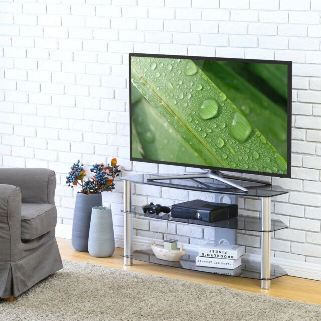 Fitueyes Tv Stand With Swivel Mount For 42 50 55 60 65 70 Inch Tvs