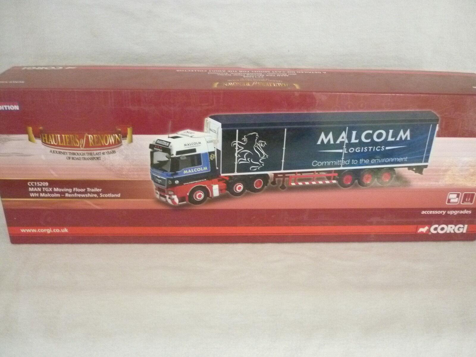 Corgi Modern Truck Haulage CC15209 MAN TGX Moving Floor W.H Malcolm