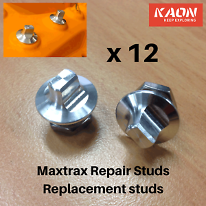 Maxtrax Replacement Teeth Repair Kit - 12 replacement studs; Fix your Maxtrax