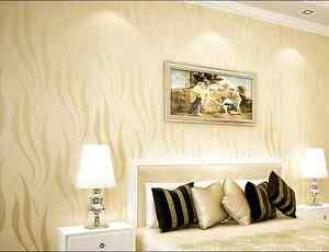 Beige Stripe Wallpaper Project Wallpaper Bedroom Cloth Shop Ebay