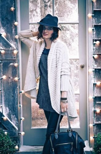 Anthropology Xs Sweater Cue P The Chunky Cardigan Comete Cocoon Størrelse New Ivory a4qS1Fn1