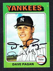 Dave Pagan #648 signed autograph auto 1975 Topps MINI Baseball Trading Card