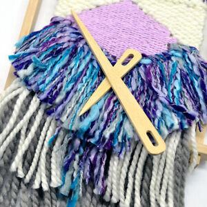 Wooden-Weaving-Tapestry-Darning-DIY-Knitting-Sewing-Needle-Big-Eye-Yarn-QK