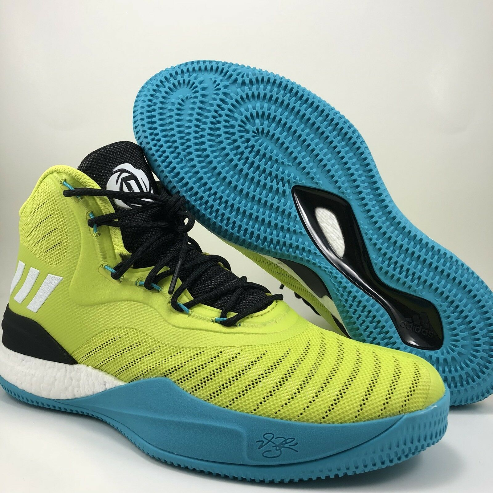 Adidas D Rose Volt Black  Basketball Shoes Mens Size 11 (CQ0828)