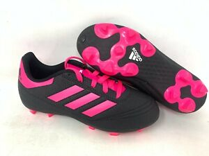 NEW-Adidas-Youth-Girl-039-s-Goletto-VI-FG-Soccer-Cleats-Black-Hot-Pink-A15-16-tz