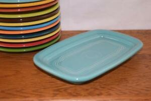 TURQUOISE-Fiesta-Extra-Large-Butter-Dish-TRAY-ONLY-Great-side-plate-tray