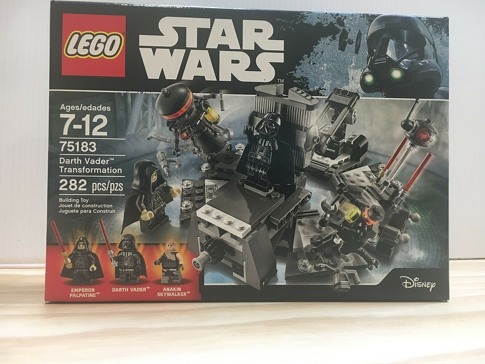 LEGO NIB 75183 Darth Vader Transformation Anakin Skywalker Emporer Palpatine