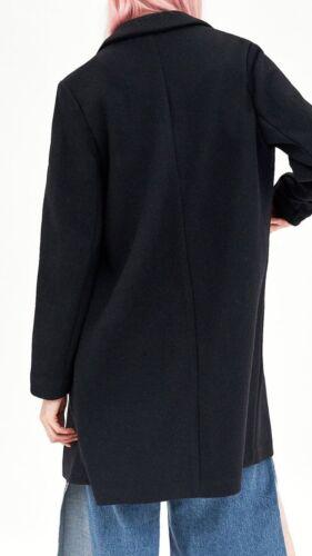 Black Zara Coat Zara Soft Manteau Soft FIZxdqYwI