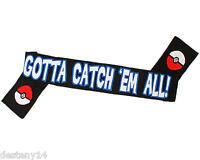 Pokemon Pikachu Gotta Catch 'em All Knit Scarf Winter Unisex Nintendo 76x7