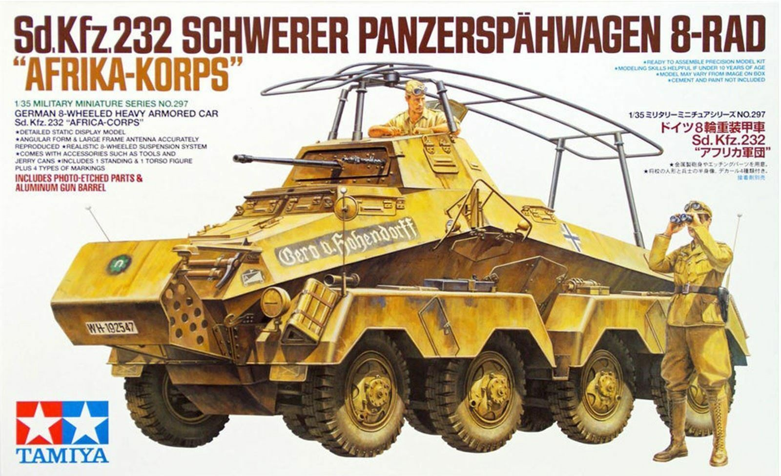 Sd.Kfz.232 Africa Corps 1 35 Military Model Kit Tamiya 35297