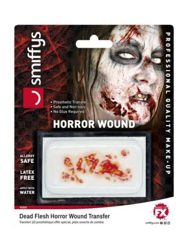Dead Flesh Horror Wound Theatrical Make Up Halloween Prosthetic Transfer Zombie