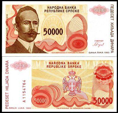 53 B UNC BOSNIA 10,000 10000 DINARA 1993 P 53B