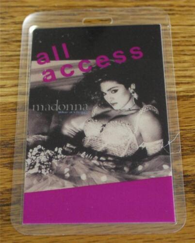 Vintage & Genuine Madonna Like a Virgin Tour 1985 OTTO Laminated Backstage Pass