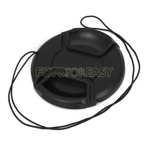 55mm-Center-Pinch-Snap-on-Front-Cap-Hood-Cover-for-Lens-Filters-with-Leash-55