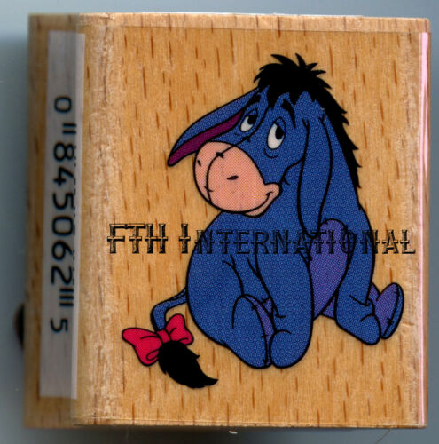 "Pooh Series 1/"" x 1.25/"" Small Eeyore ~ Disney Wood Mount Rubber Stamp #199C01"
