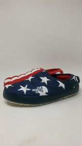 WOMENS-NORTH-FACE-IC-NSE-TRACTION-MULE-RED-WHITE-BLUE-FLAG-GOOSE-DOWN-SZ-7