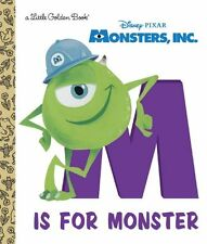 Little Golden Book: M Is for Monster (Disney/Pixar Monsters, Inc. ) by RH Disney Staff (2014, Picture Book)