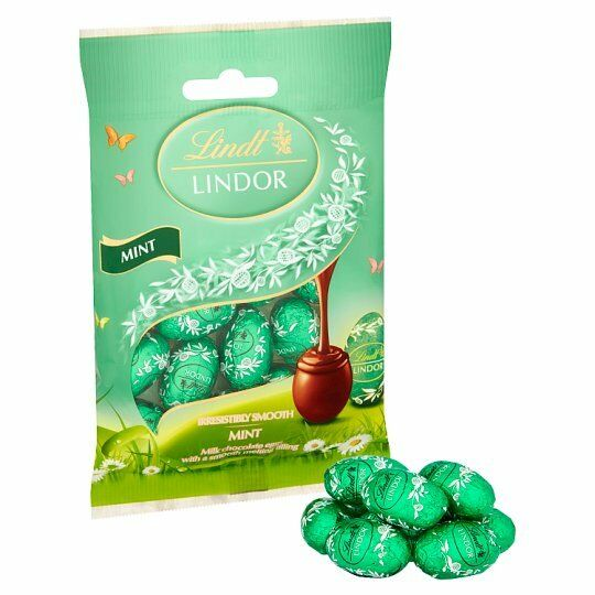 Lindt Lindor Mint Mini Eggs 4 X 100g Easter Hunt Milk Chocolate Present Gift