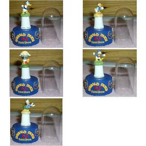 Disney-Donald-Duck-Set-of-5-thimbles-with-Stand-and-Dome-each-one