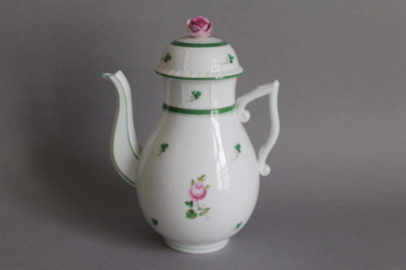 Image 1 - Coffee-Pot-Jug-H-24-cm-Herend-Vienna-Rose-Vieille-Rose-611-VRH-Vienna-Rose