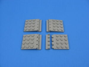 4x Pairs LEGO Black Hinge Roof Plate 4x4 w//Hinge Plate #4213 4315