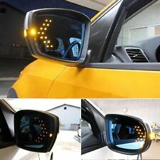 2x Amber 14-SMD LED Arrow Panels For Car Side Mirror Turn Signal Indicator Light