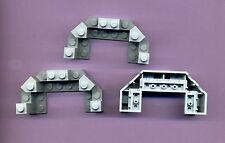 Lego--6066--Burgzinne-- Grau/MDStone -- 4 x 8 x 2 1/3 -- 3 Stück -- aus 8781 -