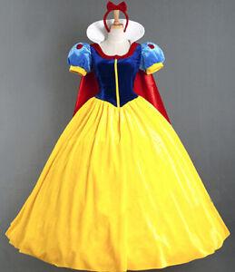 Biancaneve Vestito Carnevale Donna Dress up Snow White Woman Costume SNWW01 E