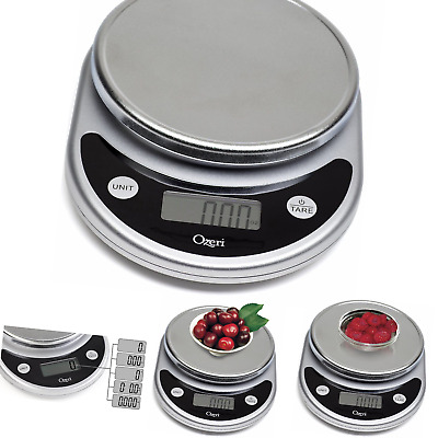 Ozeri ZK14-AB Pronto Digital Multifunction Kitchen and Food Scale Silver On Bla