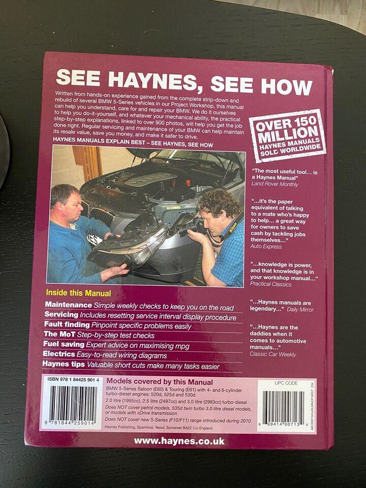 Reperationshåndbog, Haynes pebers workshop manual BMW