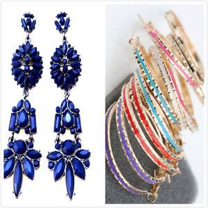 3-long-dark-blue-chandelier-or-4cm-enamelled-hoop-earrings-multiple-choices