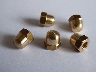 Brand New Stock Quantity 10 Acorn Nut 2BA Brass Dome Nut