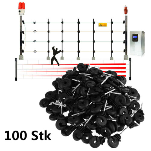 100x Ringisolatoren Weidezaun Elektrozaun Isolatoren Ringisolator Isolator NEU~