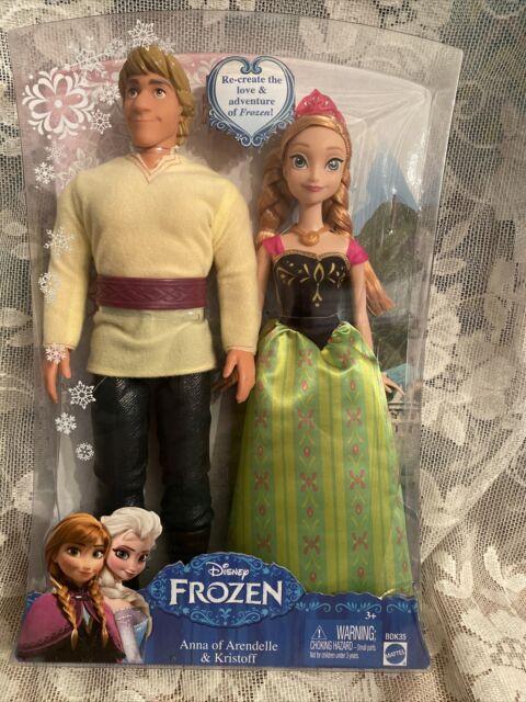 Disney Frozen Anna and Kristoff Doll (2-Pack) - New / Sealed 2013 Mattel