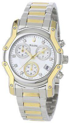 Bulova Women's 98P120 Wintermoor Two-Tone Diamond Chronograph Watch...
