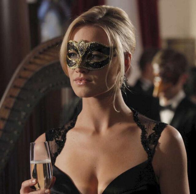 Black Gold Anonymous Venetian Masquerade Mask Mardi Gras w/ Ball Party