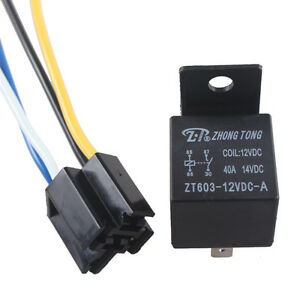 Car-Auto-Truck-12V-12-Volt-DC-40A-AMP-Relay-amp-Socket-SPST-4Pin-4-Wire-Sales