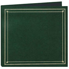 """Pioneer Full Size Post Style Album Holds 204 4x6"""" Photos 6 per Page Black Pages Color Hunter Green."""