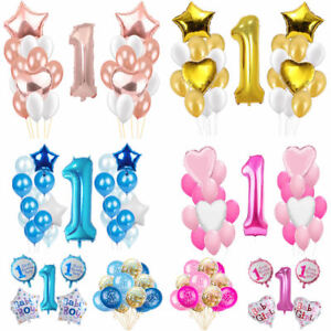 Image Is Loading Happy 1st Birthday Party Foil Balloons First Number