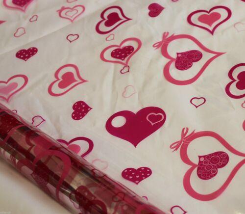 Corazón Rosa Impreso Rollos De Envoltura De Celofán perfecto para todos los propósitos de envoltura de regalo 20m